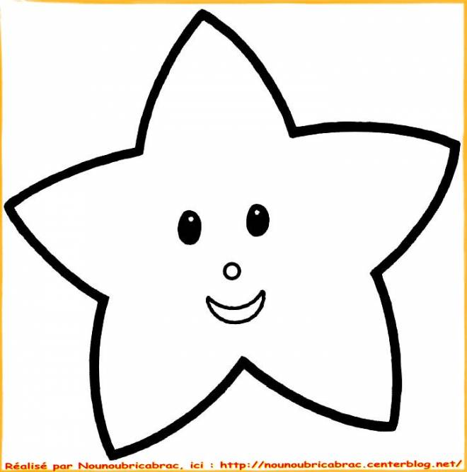 Free coloring and drawings Child star Coloring page