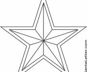 Coloring pages Christmas star to download