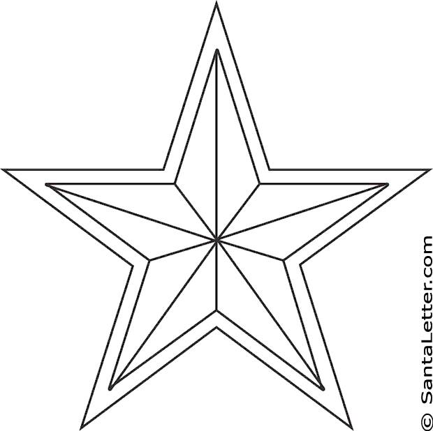 Free coloring and drawings Christmas star to download Coloring page