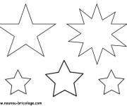 Free coloring and drawings Different star Coloring page
