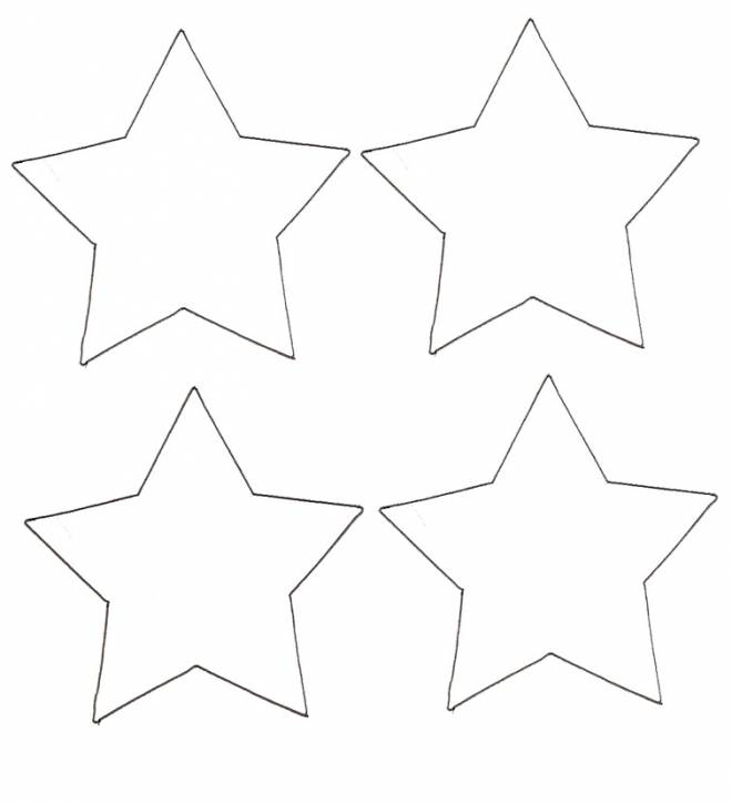 Free coloring and drawings Easy Four Stars Coloring page