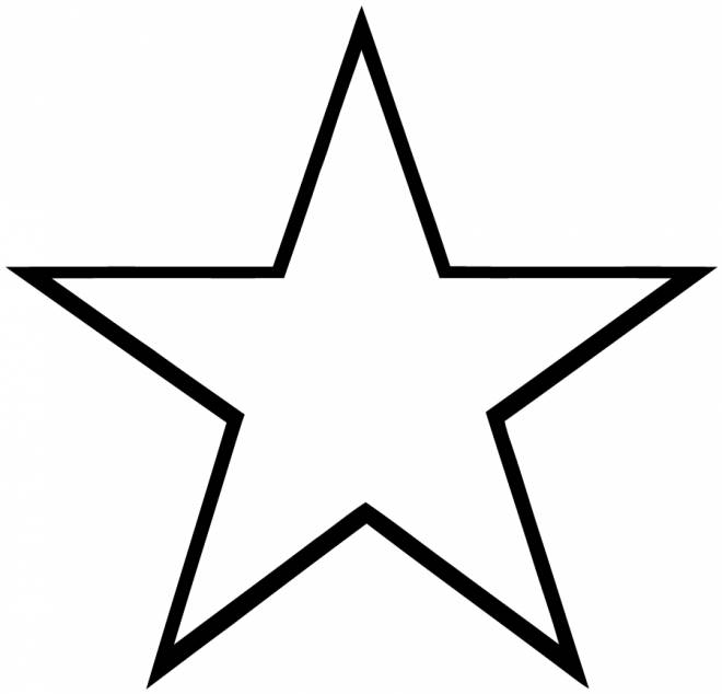 Free coloring and drawings Easy star Coloring page
