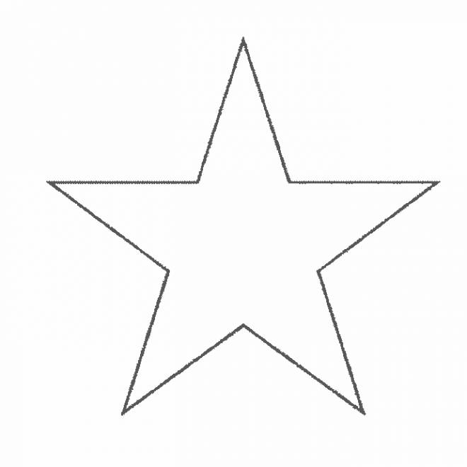 Free coloring and drawings Five pointed star Coloring page