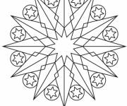 Coloring pages Mandala Star Template