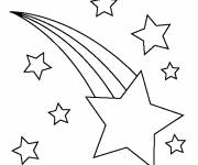 Coloring pages Shooting star in the sky