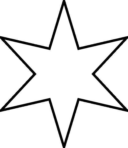 Free coloring and drawings Six pointed star Coloring page