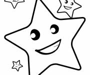 Coloring pages Smiling stars