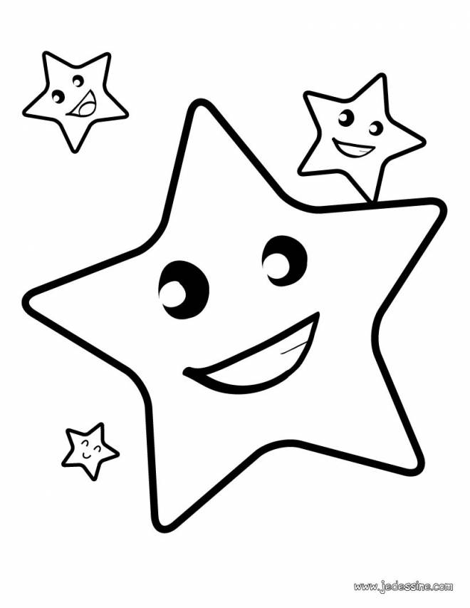 Free coloring and drawings Smiling stars Coloring page