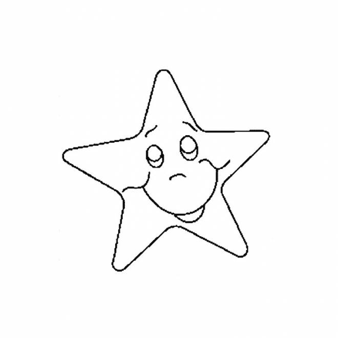 Free coloring and drawings Star with a face Coloring page
