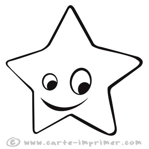 Free coloring and drawings Star with eyes Coloring page