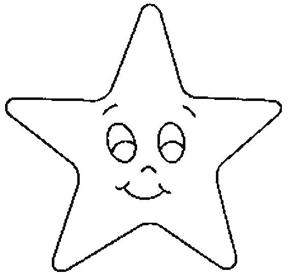 Free coloring and drawings Star with face Coloring page