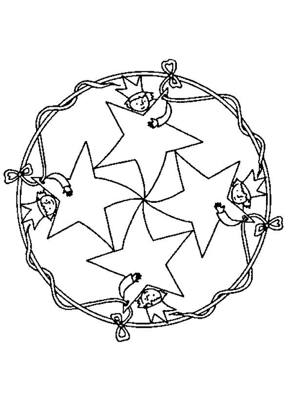 Free coloring and drawings Stars and Children Coloring page