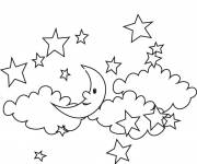 Coloring pages Stars in the sky
