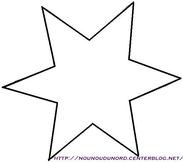 Free coloring and drawings Stylized six-pointed star Coloring page