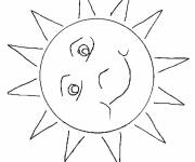 Coloring pages Color stylized sun