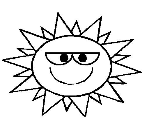 Free coloring and drawings Comic sun Coloring page