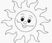Coloring pages Cute sun