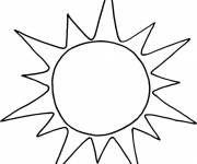 Free coloring and drawings Easy Sun Coloring page