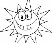 Coloring pages Humorous sun