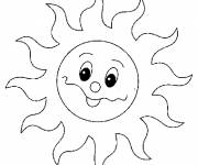 Free coloring and drawings Laughing sun Coloring page