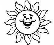 Coloring pages Laughing sun for coloring