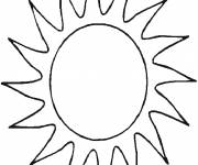 Coloring pages Maternal sun for children