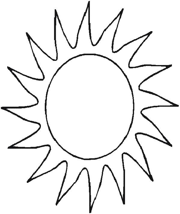 Free coloring and drawings Maternal sun for children Coloring page