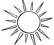 Free coloring and drawings Shining sun Coloring page
