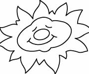 Coloring pages Sleeping sun
