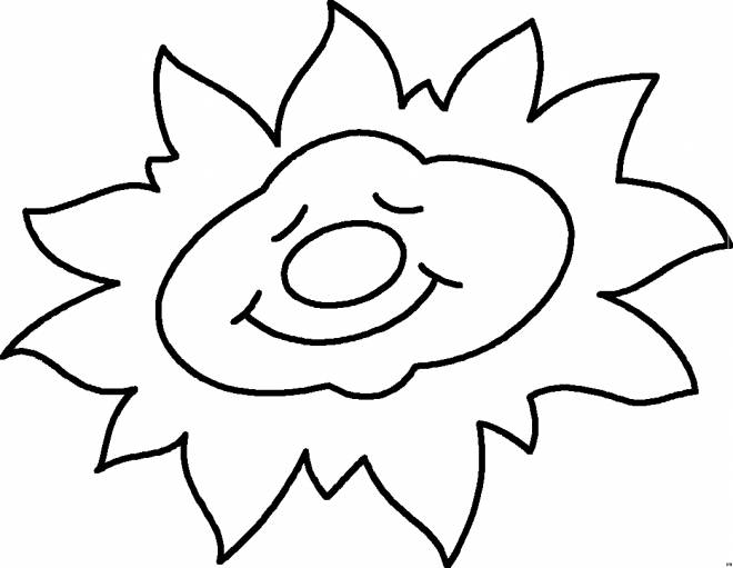 Free coloring and drawings Sleeping sun Coloring page