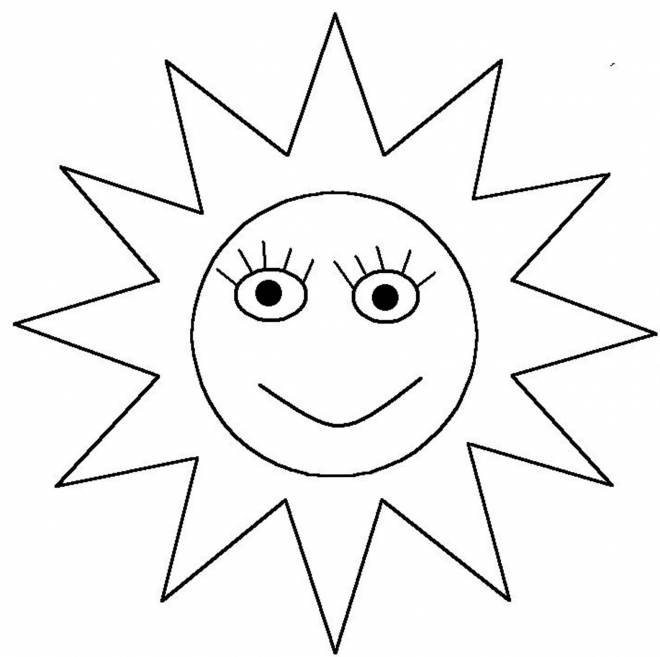 Free coloring and drawings Stylized sun Coloring page