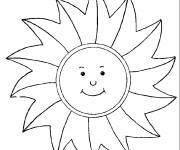 Coloring pages Stylized sunbeams