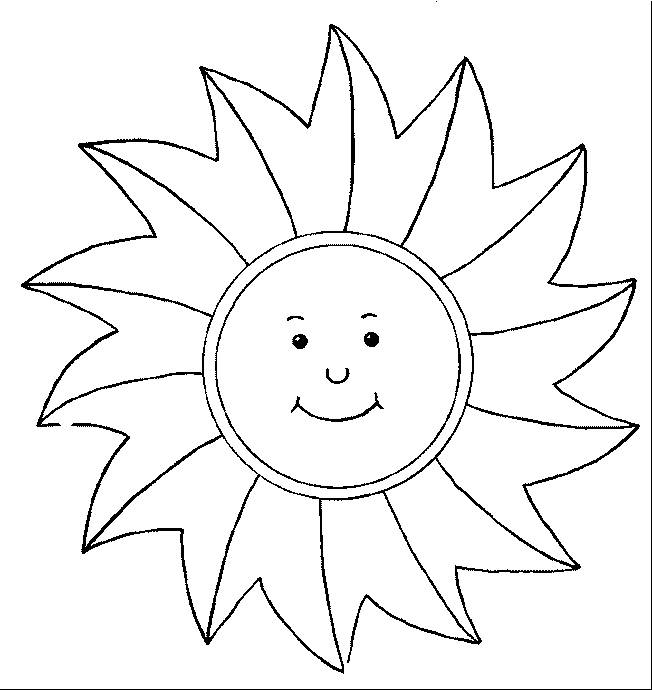 Free coloring and drawings Stylized sunbeams Coloring page