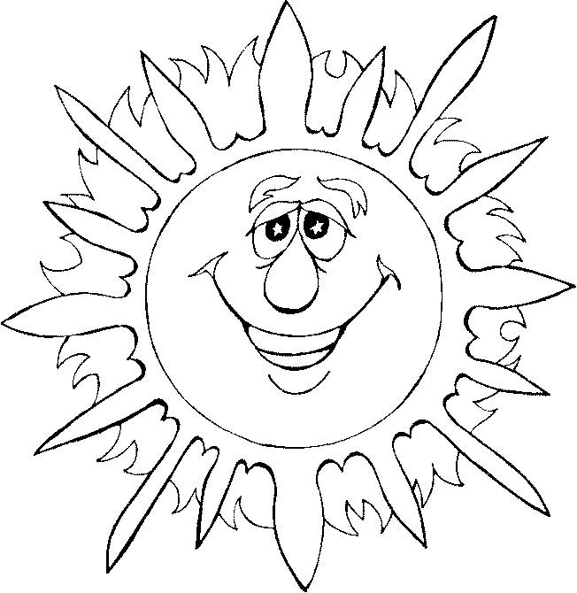 Free coloring and drawings Sun 73 Coloring page