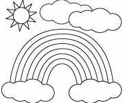 Coloring pages Sun after the rain