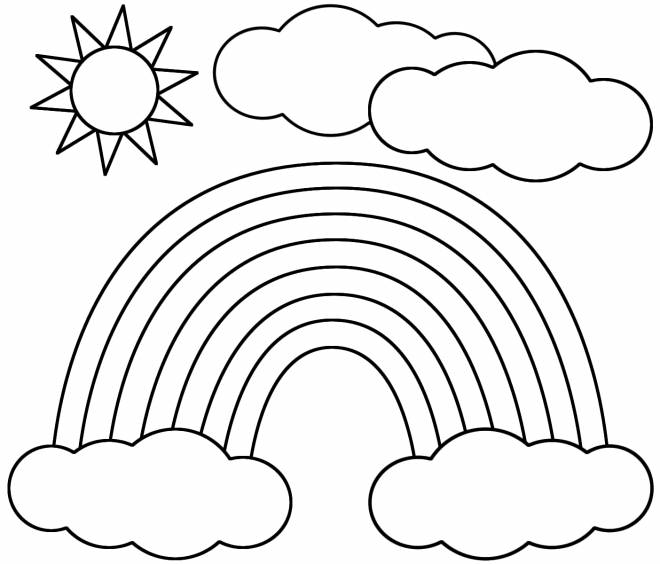 Free coloring and drawings Sun after the rain Coloring page