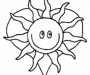 Coloring pages Sun and heart