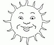 Coloring pages Sun child drawing
