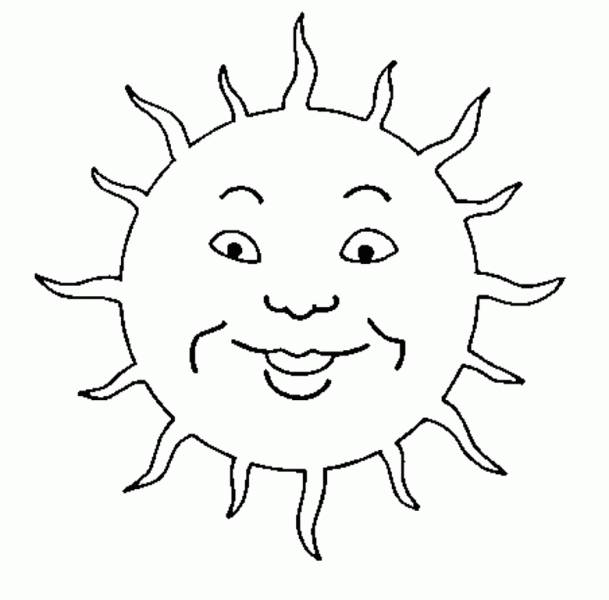 Free coloring and drawings Sun child drawing Coloring page