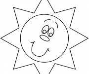 Coloring pages Sun Drawing
