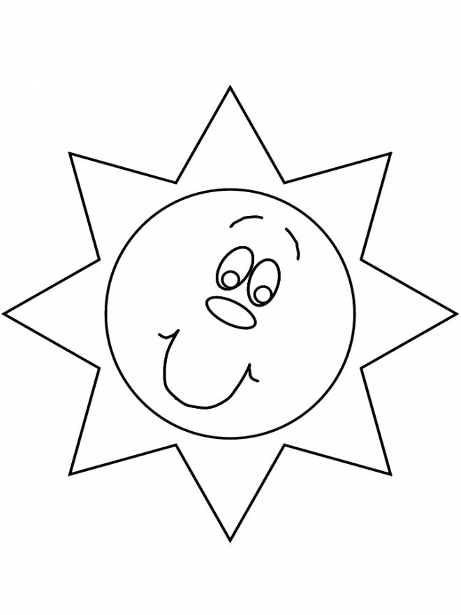 Free coloring and drawings Sun Drawing Coloring page