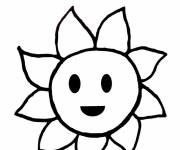 Coloring pages Sun drawing for child