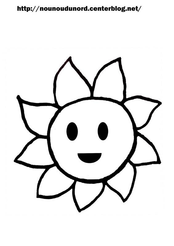 Free coloring and drawings Sun drawing for child Coloring page