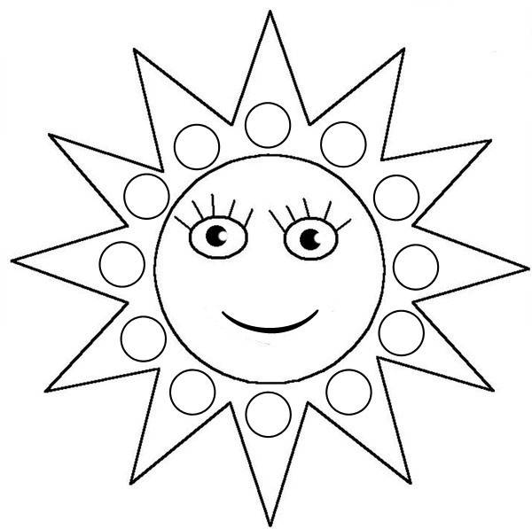 Free coloring and drawings Sun for children Coloring page