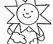 Coloring pages Sun Girl