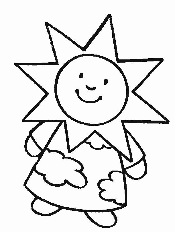 Free coloring and drawings Sun Girl Coloring page