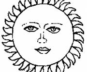 Coloring pages Sun image
