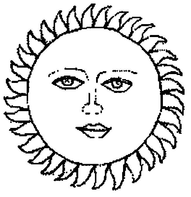 Free coloring and drawings Sun image Coloring page