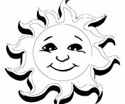 Coloring pages Sun in 3D