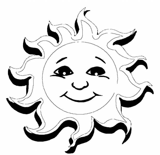 Free coloring and drawings Sun in 3D Coloring page